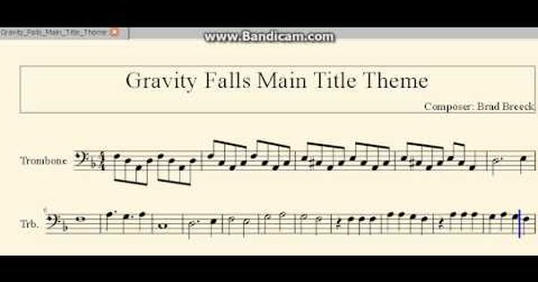 Image Result For Baritone Sheet Music Bass Clef Gravity Falls