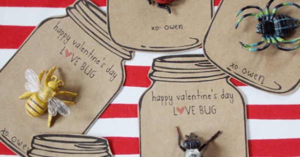 "Free printable ""Love Bug"" Valentine idea for boys"