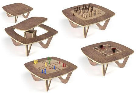 La table avo jeux une table basse conviviale qui se transforme en 2 secondes - Table basse qui se transforme en table haute ...