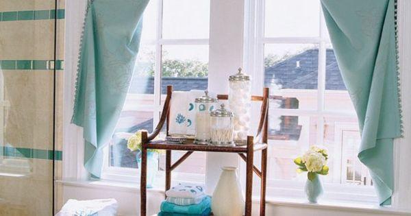 vorh nge t rkis badm bel duschkabine vorh nge pinterest. Black Bedroom Furniture Sets. Home Design Ideas