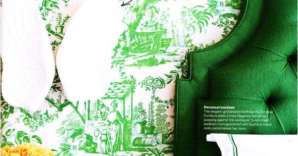 Emerald Green Upholstered Headboard Ck Master Project