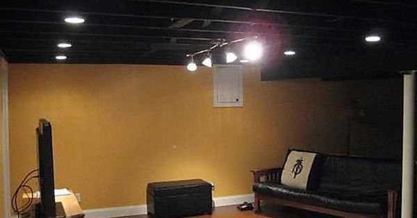 painting the basement ceiling for the home pinterest ceiling