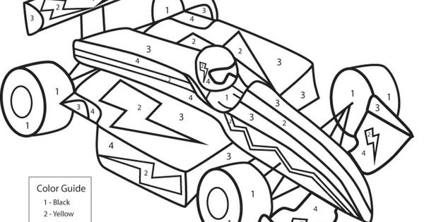 cars 2 coloring pages games for girls | race car coloring by numbers - games the sun | games site ...
