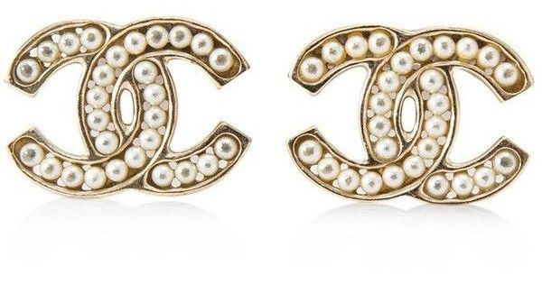 Pre Owned Chanel Interlocking C Pearl Earrings 450 Liked On Polyvore Featuring Jewelry Earrings Gold Pearl Earrings Jewellery Pearl Earrings Earring J