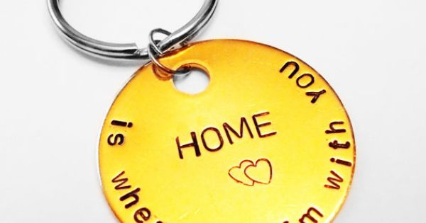 Home is Wherever Im With you Keychain, Hippie Gift, Boyfriend Girlfriend, For