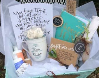Grief Gift Baskets A Great Alternative To Flowers By Burdenbearingbaskets Grief Gifts Grieving Gifts Grief Gift Basket