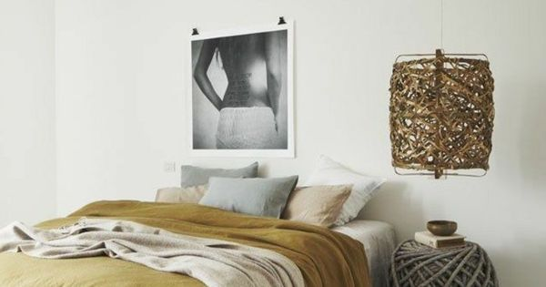 Le linge de lit en lin la parure de lit cosy et - Linge de table design ...