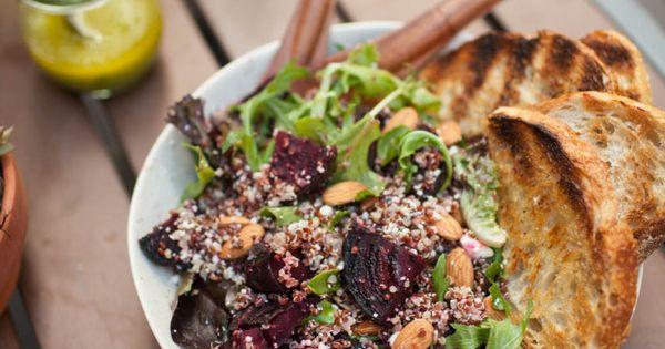 Grilled Beet, Quinoa, and Feta Salad   Naturally Ella