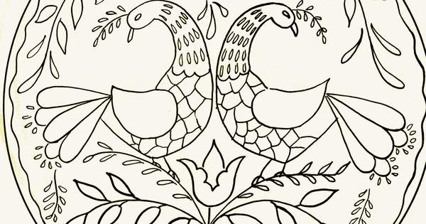 bavarian folk art coloring pages - photo#44