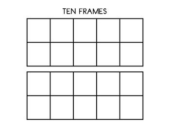 Double Ten Frame Template Ten Frame Math Charts Kindergarten Math Activities
