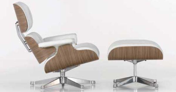 Vitra lounge chair charles en ray eames hebben de lounge chair ottoman medio jaren vijftig - Rechthoekige lederen pouf ...