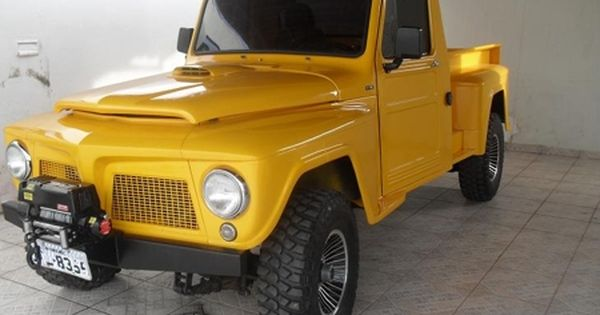 F75 Ford Amarela Caminhonetes Picapes F75