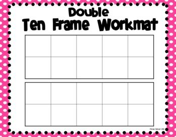 Ten Frame Workmats Freebie Math School Prek Math Math Lessons