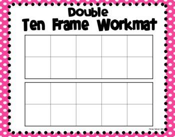 Ten Frame Workmats Freebie Math School Prek Math Math Lessons