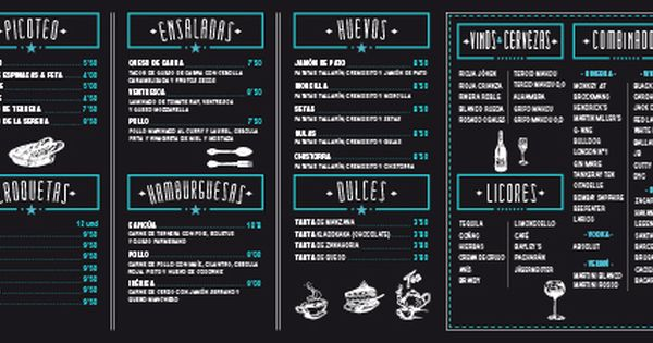 Carta para bar de tapas buscar con google cartas para for Tapas menu template