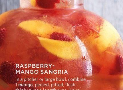 Raspberry-Mango Sangria | Recipe | Summer, Raspberry sangria and ...