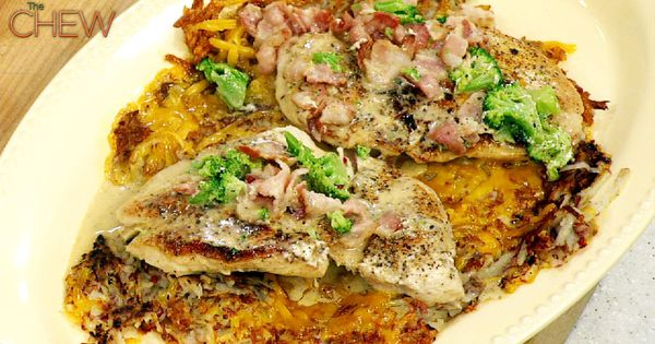 Michael Symon's Chicken Paillard with Cheesy Hash Browns recipe. - chicken breasts