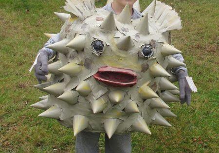 Diy kids puffer fish costume google search halloween for Puffer fish costume