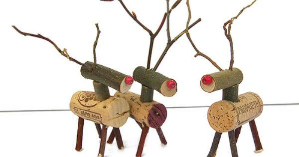 Wine cork reindeer winecork wine cork crafts