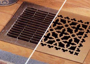 Add New Grates And Plates To Old Torn Back Ones So Your House Has