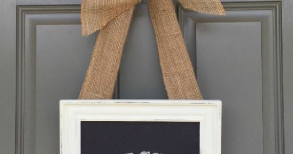 DIY Picture Frame Welcome Wreath #12monthsofmartha | See more about Diy Picture Frame, Welcome Wreath and Picture Frames.