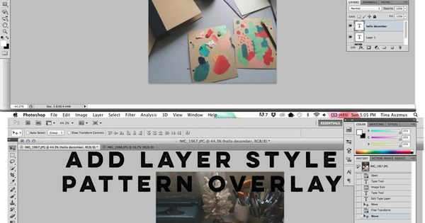 Adding gold overlay to a photo in Photoshop//