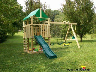 25 Free Backyard Playground Plans For Kids Playsets Swingsets Teeter Totters And More Http Www Toolc Backyard Playset Playset Plans Backyard Playground