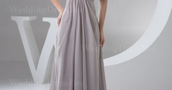 Strapless a-line occasional chiffon dress bridesmaid dress