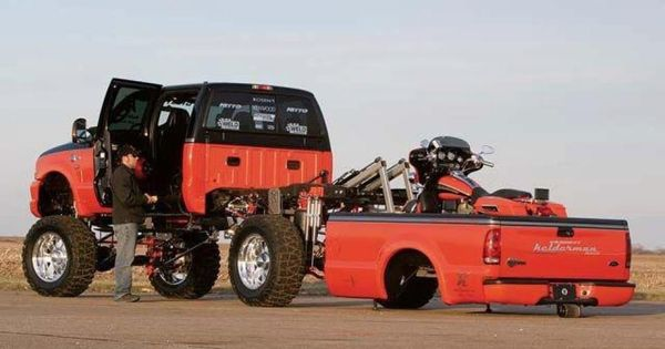Cool Motorcycle lift bed on this pickup ! | trucks | Pinterest | Cool