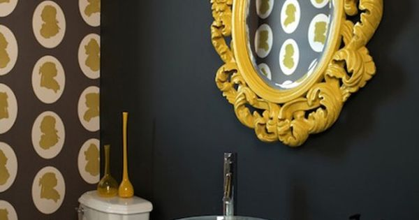 Color Theory Black Magic Yellow Framed Mirrors Colour Pop And Bright Colours