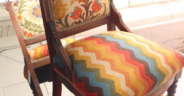 Upholstered In Waverly Fabric Very Mexican Southwest