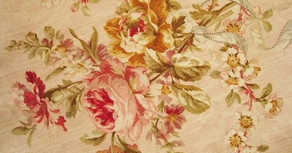 French Rose Fabric Cream Amp Rouge Pinterest Antique
