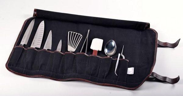 Boldric Canvas Roll Knife Bag With Strap Black Hardware