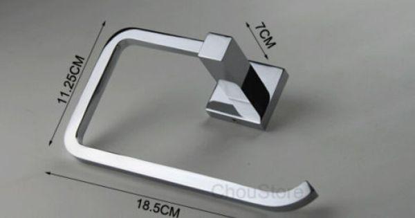 Chrome Brass Bathroom Hand Towel Ring Towel Rack Holder Square Towel Bar C125 Hand Towels Bathroom Brass Bathroom Towel Bar