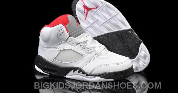 the best attitude 3fc4e 63d4c http   www.bigkidsjordanshoes.com buy-nike-air-jordan-5-kids-white-black -fire-red-hot.html BUY NIKE AIR JORDAN 5 KIDS WHITE BLACK FIRE RED HOT Only…
