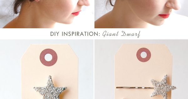 Sparkly star bobby pin diy