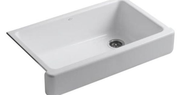 Short Apron Front Sink : Self Trimming Apron Front Single Basin Sink with Short Apron ...