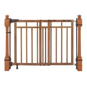 Summer Infant 33 In Banister And Stair Gate With Dual Installation Kit 07180a Safety Gates For Stairs Stair Gate Top Of Stairs Gate