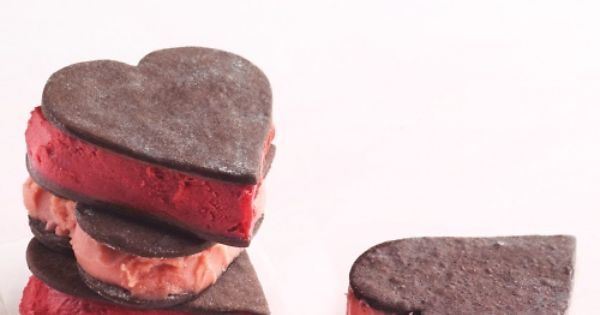 Using sorbet instead of ice cream in these sandwiches cuts back on fat to be truly good to your heart.