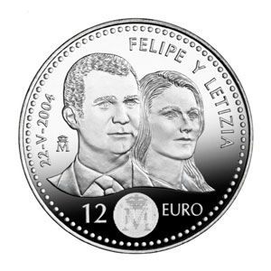 Moneda Conmemorativa 12 Euros 2004 Boda Principe Tienda Numismatica Y Filatelia Lopez Compra Venta De Mone Monedas Monedas De Plata Monedas Coleccionables