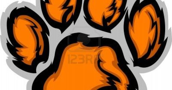 image detail for tiger paw graphic mascot vector image Auburn Tiger Eyes Clip Art Tiger Paw Clip Art