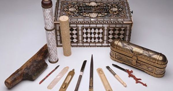 Antique calligraphy storage tools calligraphy Arabic calligraphy tools