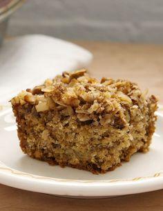 Banana Oatmeal Crumb Cake Recipe Coffee Cake Baking No Bake Cake