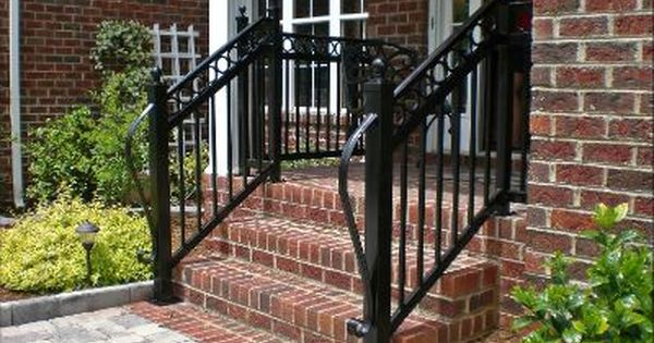Wrought iron railings wrought iron handrails steel rails - Metal railings for stairs exterior ...
