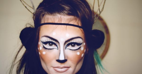 DIY Halloween Makeup : Beautiful deer make up for Halloween clothes Halloween
