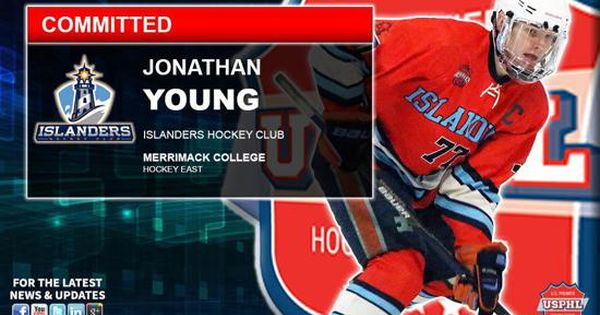 The Islanders Hockey Club Is Pleased To Announce The Commitment Of U16 Forward Jonathan Young To Merrimack College Merrimack College College Hockey Merrimack