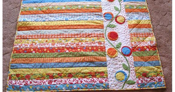 Tutorial for a jelly roll quilt from Piece N Quilt