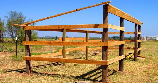 Horse lean to shelter plans projects to try pinterest for Lean to shelter plans