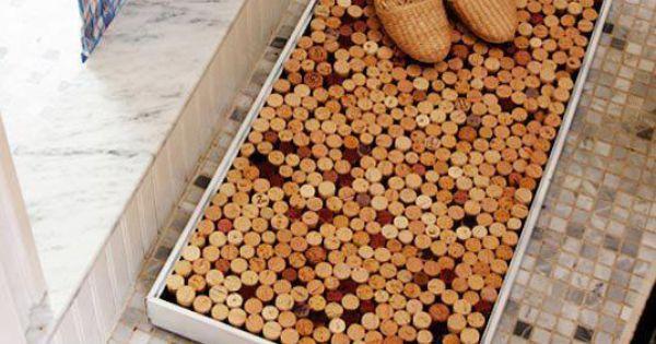Alfombra de corchos reciclados cositas pinterest corchos reciclado y segunda vida - Alfombra de corchos ...