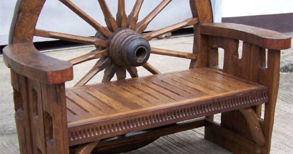 wagon wheel furniture Google Search